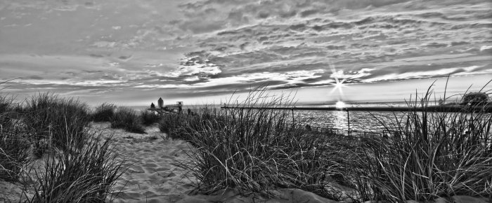 Grand Haven HDR  BW